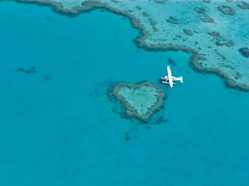大堡礁水上飞机探险之旅